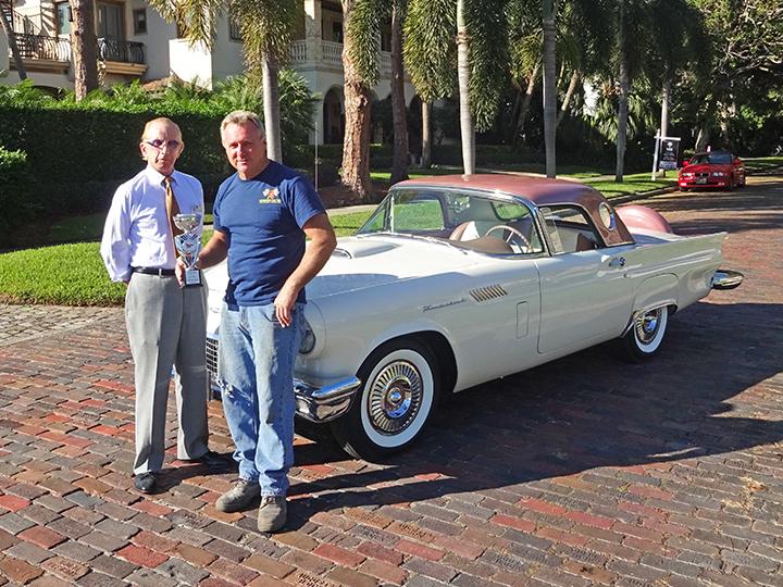 StPete Yacht Club Car Show - Winning 1957 T-Bird
